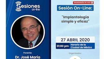 """Conferencia online. Protocolos para realizar una """"Implantología simple y eficaz"""""""